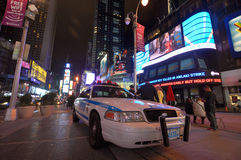 NYPD police car in Times Square Royalty Free Stock Photography
