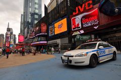 NYPD police car in Times Square Royalty Free Stock Photos