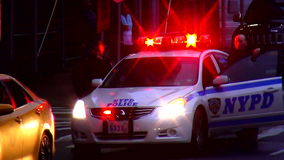 NYPD Police Car USA cityscapes stock video