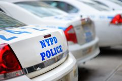 NYPD police cars Royalty Free Stock Image