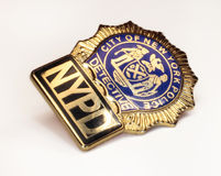 NYPD police detective badge. Police Badge close up of new york detectives shield stock image