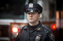 NYPD Police officer in NYC Stock Photography