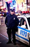 NYPD Police Officers on Times square. On January 11, 2011 in Manhattan, New York City royalty free stock photo