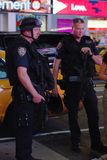 NYPD Police Officers on Times square Stock Photos