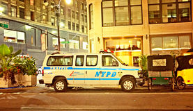 NYPD Police Traffic Car Stock Image