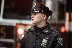 NYPD-Politieman in NYC royalty-vrije stock afbeelding