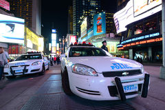 NYPD-politiewagen in Times Square Royalty-vrije Stock Afbeelding