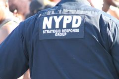 NYPD Presence at West Indian Day Parade Stock Image