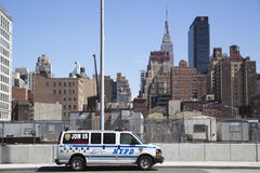 NYPD recruit car in midtown Manhattan Stock Photography