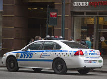 NYPD recruit car in midtown Manhattan Royalty Free Stock Photos