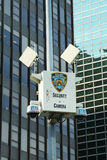 NYPD security camera in Manhattan Royalty Free Stock Photos