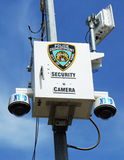 NYPD security camera placed at the intersection in Staten Island, NY Stock Image