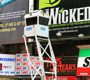 NYPD security stand. With surveillance camera in times square,ny Royalty Free Stock Images