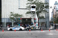 NYPD Sky Watch mobile surveillance tower Stock Photography