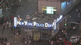 NYPD Station Time Square stock video
