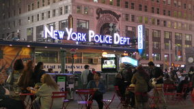 NYPD station Times Square 4K stock video footage
