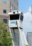 NYPD sull'alta allerta dopo la minaccia di terrore in New York Immagini Stock Libere da Diritti