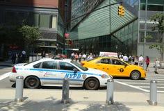 NYPD sull'alta allerta dopo la minaccia di terrore in New York Immagine Stock Libera da Diritti