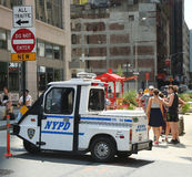 NYPD sull'alta allerta dopo la minaccia di terrore in New York Fotografia Stock