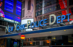 NYPD in Times Square. Police headquarters in Time Square Royalty Free Stock Image