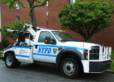 NYPD tow truck in Brooklyn, NY Stock Image