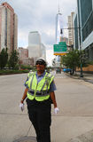 NYPD Traffic Control Police Officer near Freedom Tower in Manhattan Royalty Free Stock Photo