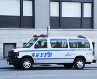 NYPD traffic control van in Manhattan Royalty Free Stock Images