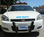 NYPD traffic control vehicle in Brooklyn, NY Stock Photos