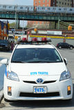 NYPD traffic control vehicle in Brooklyn, NY Royalty Free Stock Images