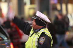 NYPD Traffic Officer Stock Photo