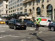 NYPD-trafiktjänsteman, New York City, NYC, NY, USA Arkivfoton