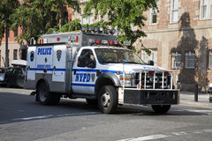 NYPD truck Royalty Free Stock Photo