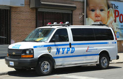 NYPD van in Brooklyn, NY Royalty Free Stock Image