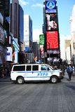 NYPD Van In Times Square stock photos