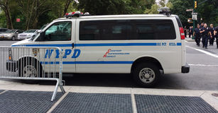 NYPD Vehicle and Police Officers, NYC, NY, USA Royalty Free Stock Photography