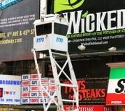 NYPD veiligheidstribune Royalty-vrije Stock Afbeeldingen
