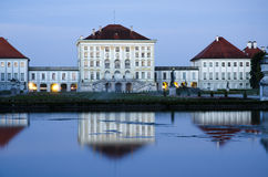 Nyphenberg Palace in Munich at dusk Stock Images