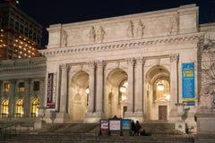 NYPL la nuit Photo libre de droits
