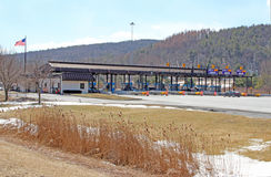 NYS Thruway toll booths Stock Photography