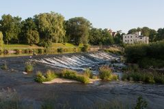Nysa Klodzka river in south west Poland Stock Photo