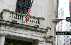 NYSE on Wall street Royalty Free Stock Images