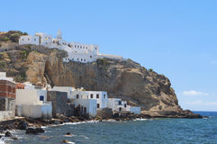 Nysirros island in Greece. Mandraki village Stock Photos