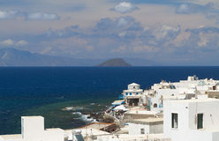 Nysirros island in Greece. Mandraki village Royalty Free Stock Image