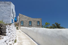 Nysirros island in Greece. Nikeia village Stock Images