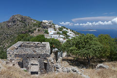 Nysirros island in Greece. Royalty Free Stock Photos