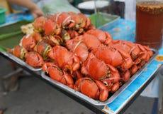 Nytt ångade krabbor Fotografering för Bildbyråer