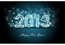 nytt år 2013 för bakgrund stock illustrationer