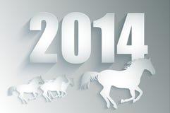 Nytt år 2014. Royaltyfri Illustrationer
