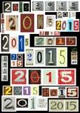 Nytt år 2015 Arkivbild