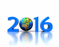 Nytt år 2016 Arkivbild